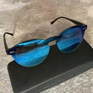 Okulary w stylu panto niebieski neonowy-turkusowy