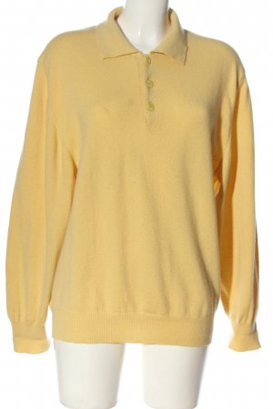 Westbury Pullover in cashmere giallo pallido stile casual