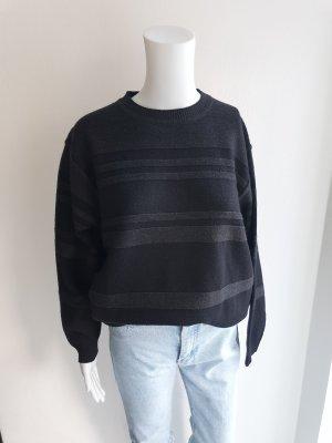 Westbury M schwarz grau Oversize Pullover Hoodie Pulli Strickjacke cardigan mantel jacke trenchcoat bluse True Vintage