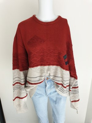 Westbury Maglione oversize beige chiaro-rosso