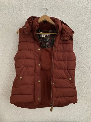 H&M Down Vest brown red-russet