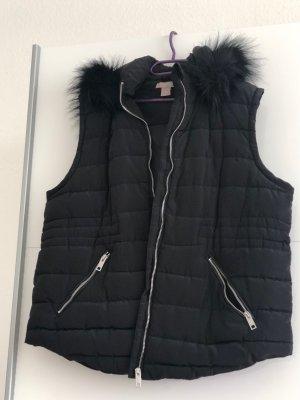 H&M Chaleco con capucha negro