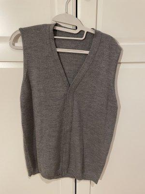 Długi sweter bez rękawów ciemnoszary
