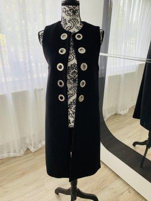 Zara Woman Gilet long tricoté noir