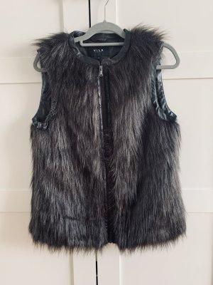 Vila Fake Fur Vest brown violet