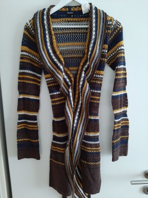 Miss Sixty Cardigan lungo smanicato multicolore