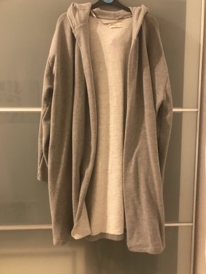 Pull & Bear Chaleco con capucha gris claro-gris
