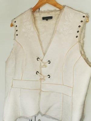 Blind Date Vest van imitatiebont wolwit