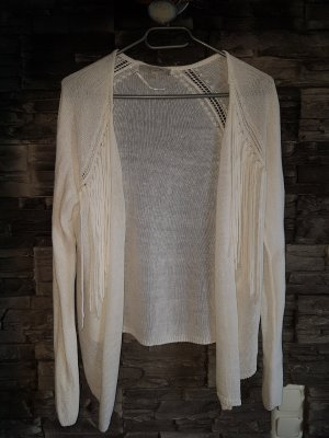 Comma Fringed Vest white