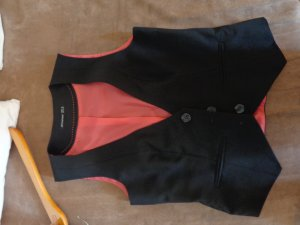 Primark Reversible Vest black-salmon