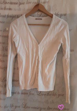 Orsay Lang gebreid vest wit