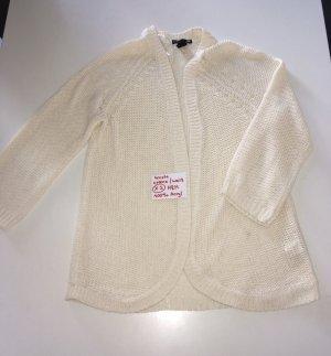 H&M Gilet tricoté crème-beige clair