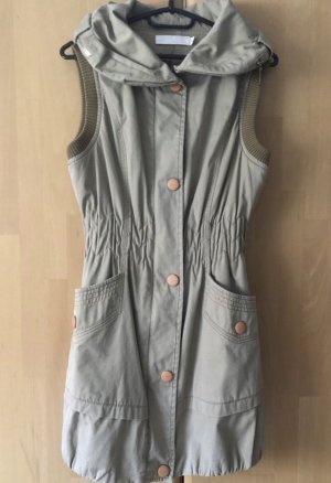Long Knitted Vest beige-oatmeal