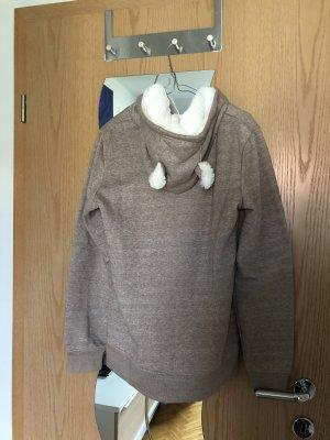 New Yorker Fleece Vest light brown-white