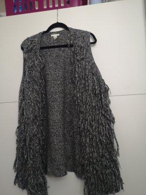 H&M Chaleco con flecos gris