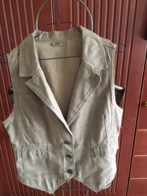 Biker Vest beige-brown cotton