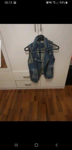 0039 Italy Denim Vest blue
