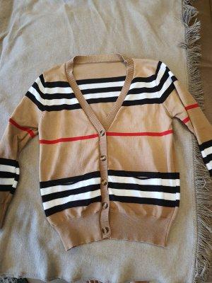 Gilet tricoté marron clair