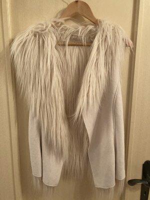 Esprit Fur vest natural white
