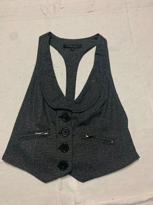 Amisu Smanicato lavorato a maglia grigio scuro-argento