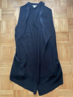 H&M Gilet long tricoté noir
