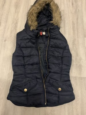 H&M Divided Vest van imitatiebont donkerblauw