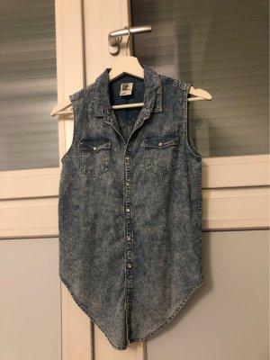 H&M Smanicato jeans azzurro-bianco