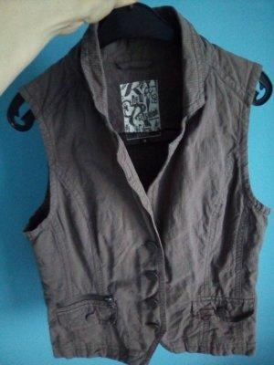Cecil Denim Vest light brown cotton