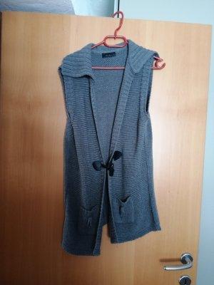 Knitted Vest black-grey