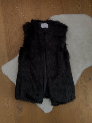 Bershka Fake Fur Vest black