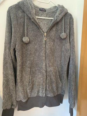 Fleece vest grijs-lichtgrijs