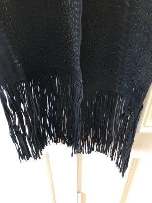 Zara Chaleco de cuero negro Cuero