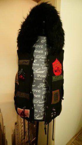 Mariko Capuchon vest zwart