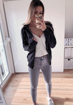 H&M Gilet à capuche gris-gris anthracite