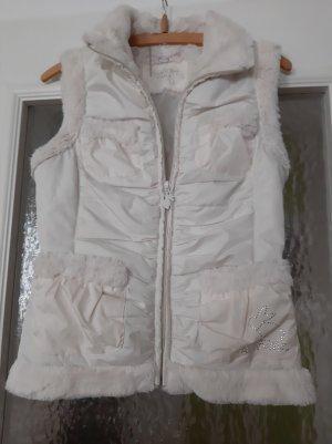 Tally Weijl Futrzana kamizelka w kolorze białej wełny