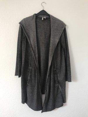 H&M Chaleco con capucha gris antracita