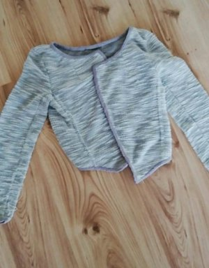 Knitted Vest silver-colored-grey