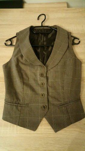 Gilet de costume noir-gris brun