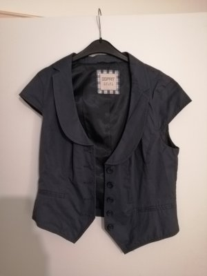 Esprit Gilet de costume bleu acier