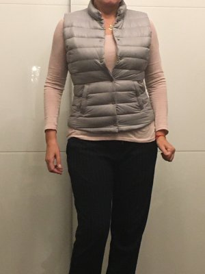 Anne L. Down Vest light grey-silver-colored