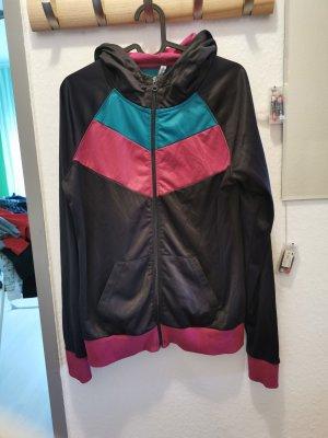 Chaleco con capucha multicolor