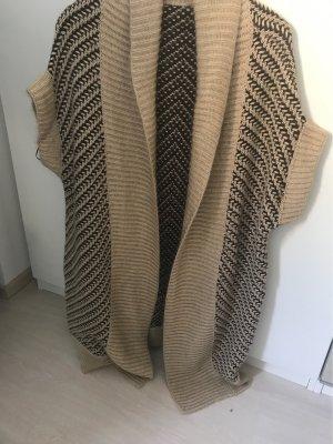 Strenesse Gilet tricoté beige-brun foncé laine