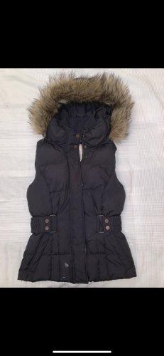 Esprit Capuchon vest zwart-lichtbruin