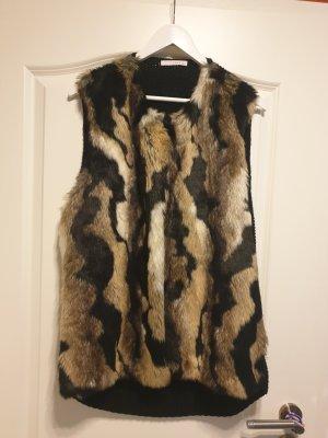 Fake Fur Vest multicolored