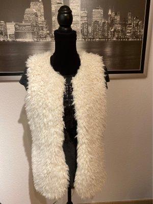 Gina Fake Fur Vest white