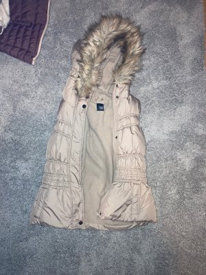 Pimkie Fur vest grey brown polyester