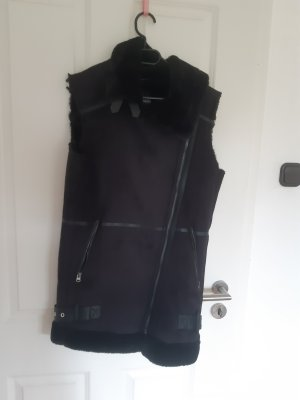 Haily's Fake Fur Vest black