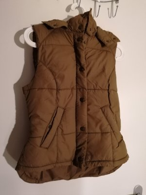 H&M Hooded Vest brown