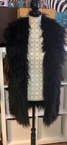 Zara Smanicato di pelliccia nero