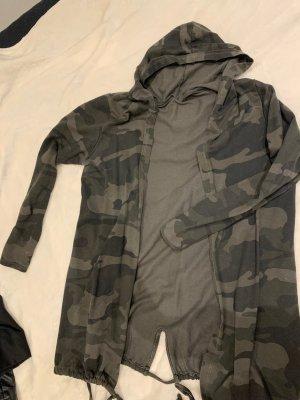 Hooded Vest dark green-green grey